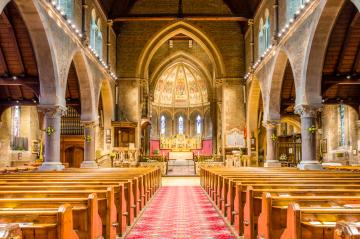 Holy Trinity 2015 showing new lighting installation